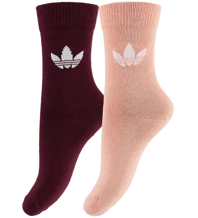 Image of adidas Originals Strømper - 2-pak - Thin Trefoil - Rosa/Bordeaux (MU748)
