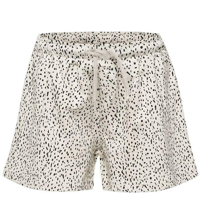 Hummel Shorts - HMLIrene - Creme m. Mønster - 09 - Hummel,AA - Hummel,Hummel Shorts,Hummel SS19,Hummel Tilbud,Hummel Udsalg,Pigetøj - Hummel