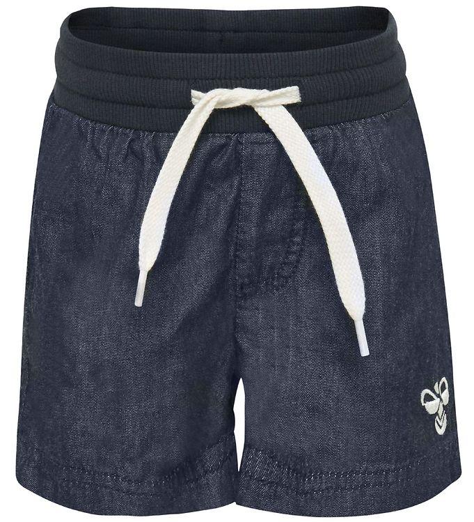 Hummel Shorts - Jaco - Blå Denim - 09 - Hummel,AA - Hummel,AA - Mellemstation,Drengetøj,Hummel Shorts,Hummel SS19,Hummel Tilbud,Hummel Udsalg - Hummel