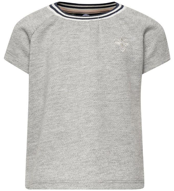 Hummel T-shirt - HMLDemi - Gråmeleret m. Glimmer - 09 - Hummel,AA - Hummel,Hummel SS19,Hummel T-shirt,Hummel Tilbud,Hummel Udsalg,Pigetøj - Hummel