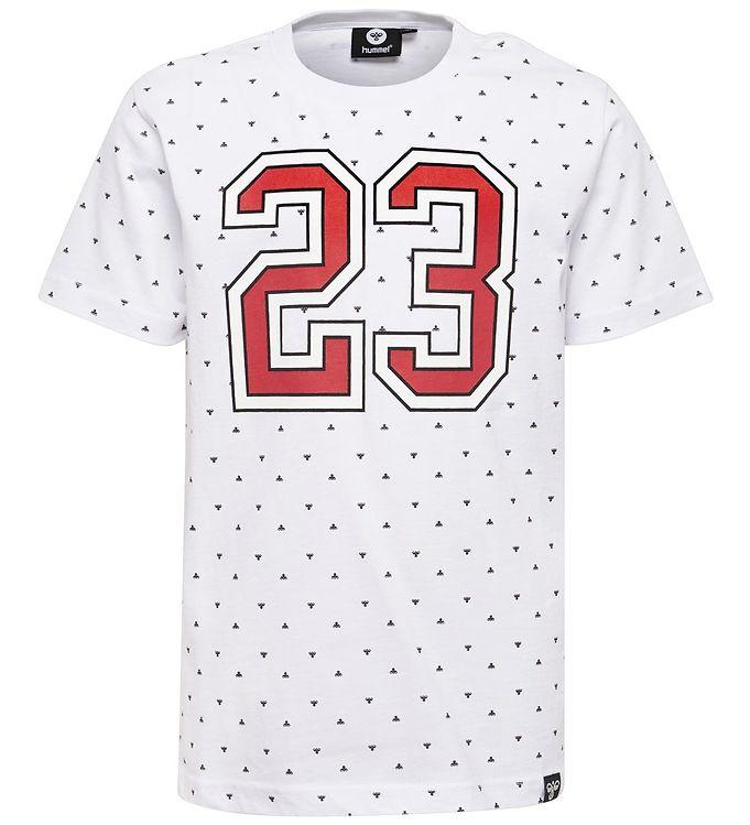 Hummel T-shirt - HMLKoons - Hvid m. Logoer/Print - 09 - Hummel,AA - Hummel,Drengetøj,Hummel SS19,Hummel T-shirt,Hummel Tilbud,Hummel Udsalg - Hummel
