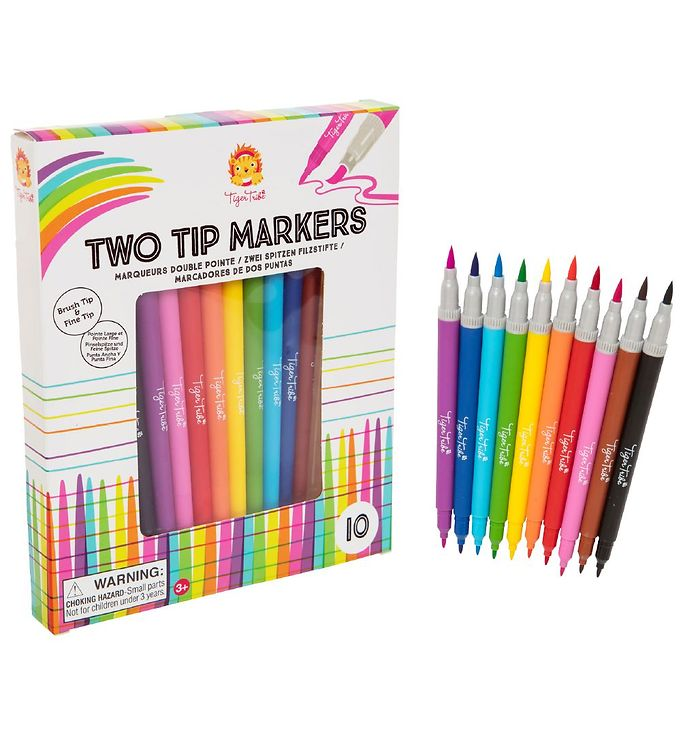 Image of Tiger Tribe Farver - 10 stk - Two Tip Markers (MV213)