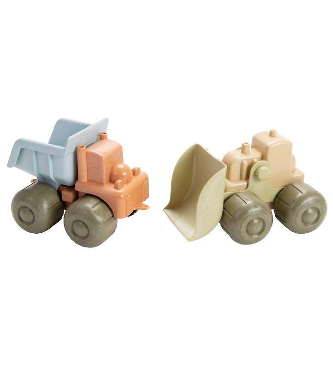 Image of Dantoy BIO Plastic Bulldozer & Lastbil - Pastel (MV349)