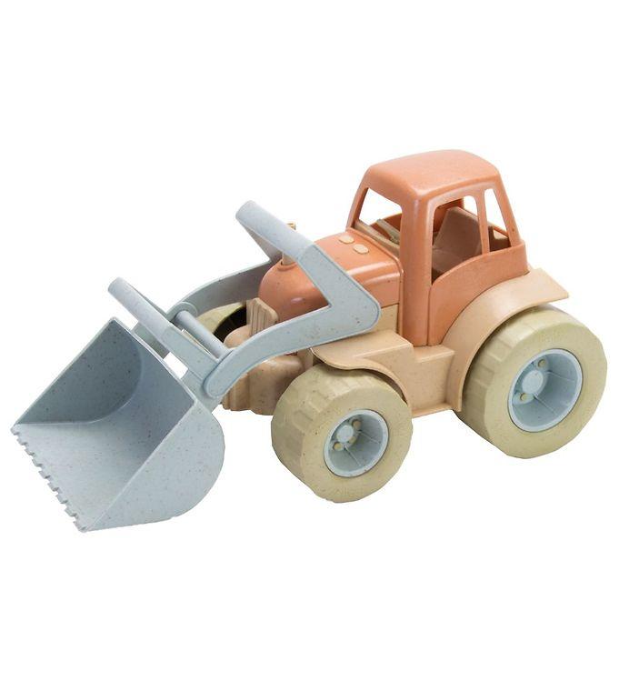 Image of Dantoy BIO Plastic Traktor m. Grab - 29 cm - Pastel (MV366)