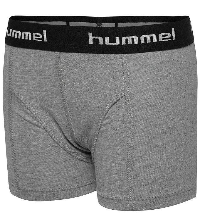 bc40fb28e53 Hummel Boxershorts - 2-pak - Boxers - Gråmeleret/Sort
