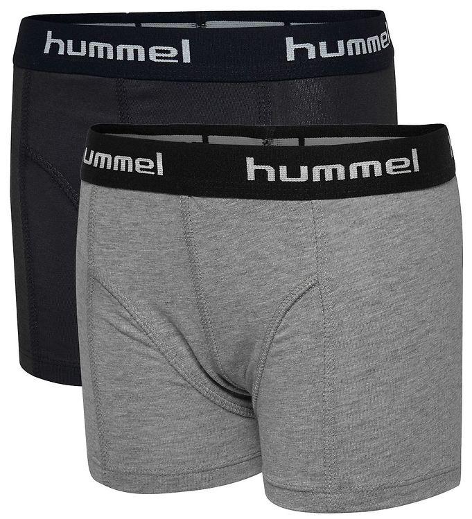 Image of Hummel Boxershorts - 2-pak - Boxers - Gråmeleret/Sort (MV616)