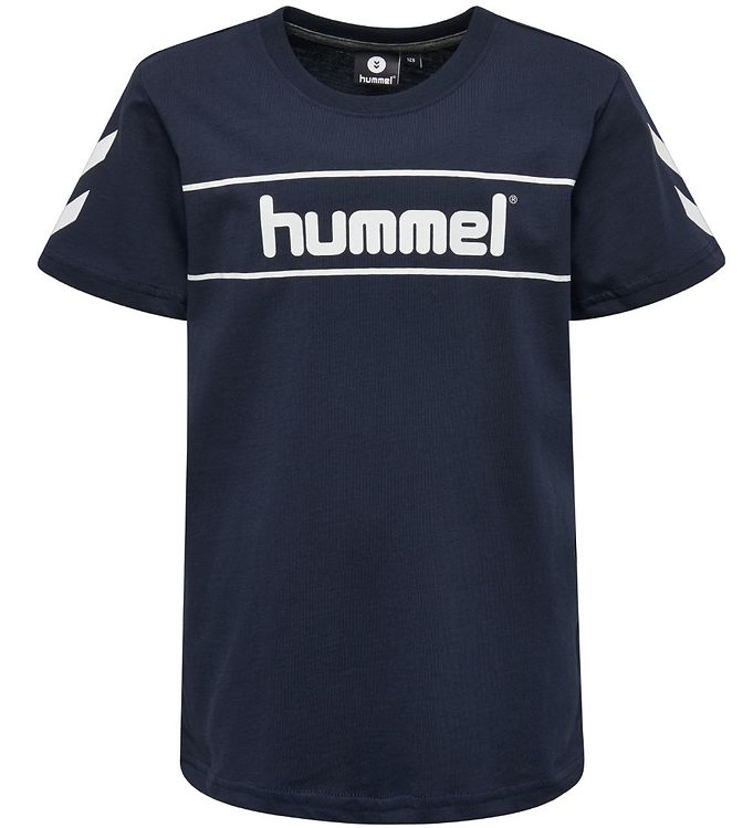 Hummel T-shirt - HMLJaki - Navy - 09 - Hummel,Drengetøj,Hummel SS19,Hummel T-shirt - Hummel