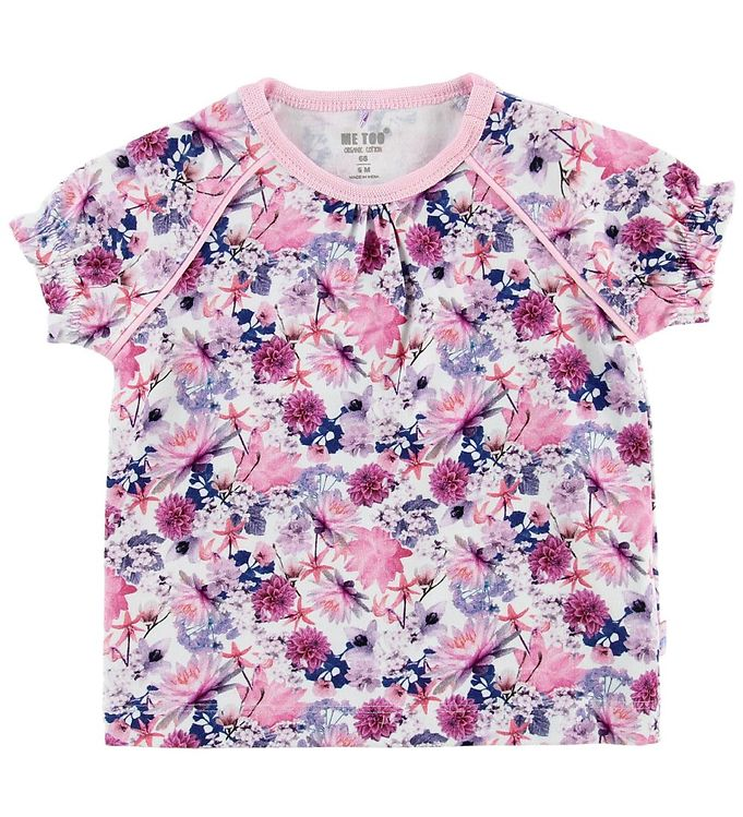 Image of Me Too T-shirt - Rosa m. Blomster (MV863)