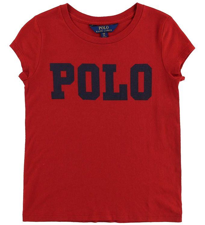Polo Ralph Lauren T-shirt - Rød m. Tekst