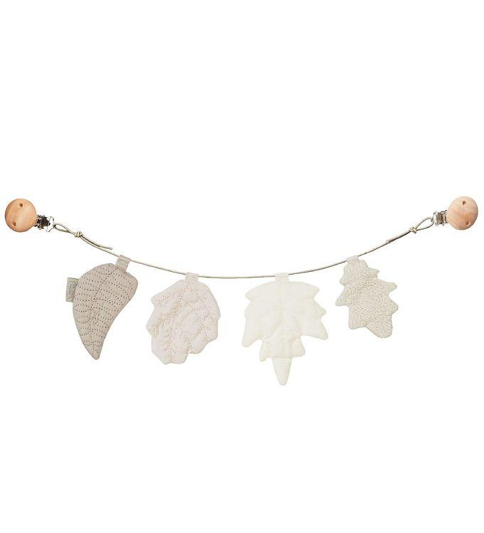 Billede af Cam Cam Barnevognskæde - Leaves - Mix Natural