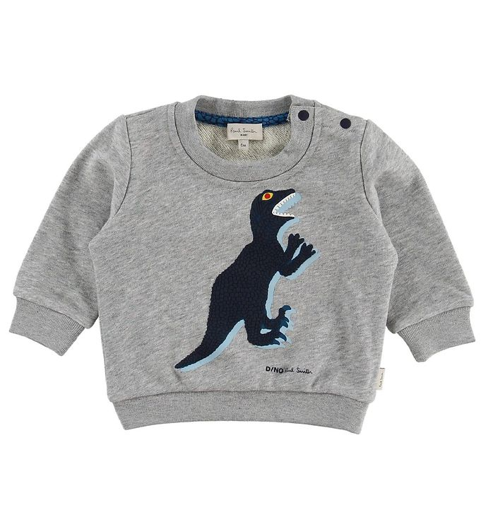 Image of Paul Smith Baby Sweatshirt - Ventura - Gråmeleret m. Dinosaur (MY502)