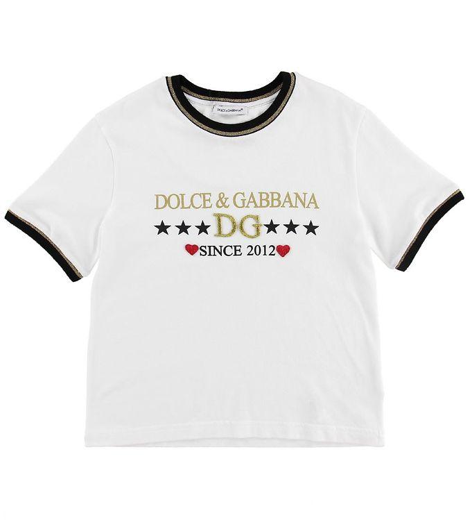 Image of Dolce & Gabbana T-shirt - Millennials - Hvid (MY604)