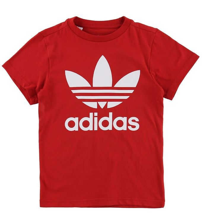 Image of adidas Originals T-shirt - Trefoil - Rød (MZ095)