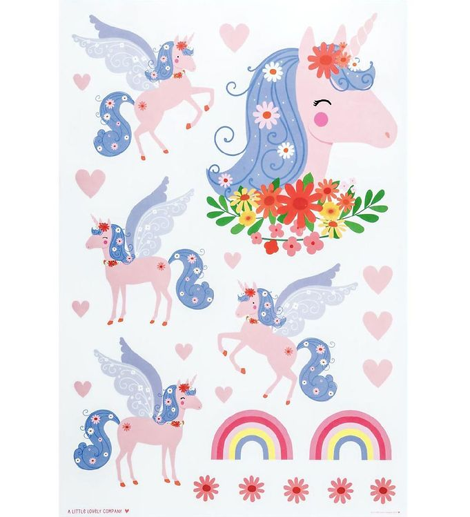 Image of A Little Lovely Company Wallstickers - 35x50 cm - Unicorn (MZ252)