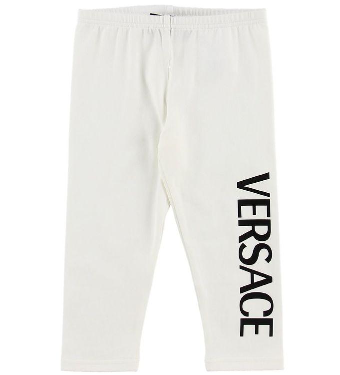 Image of Versace Leggings - Hvid m. Tekst (MZ260)