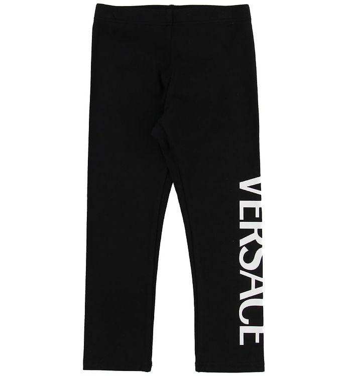 Image of Versace Leggings - Sort m. Tekst (MZ261)