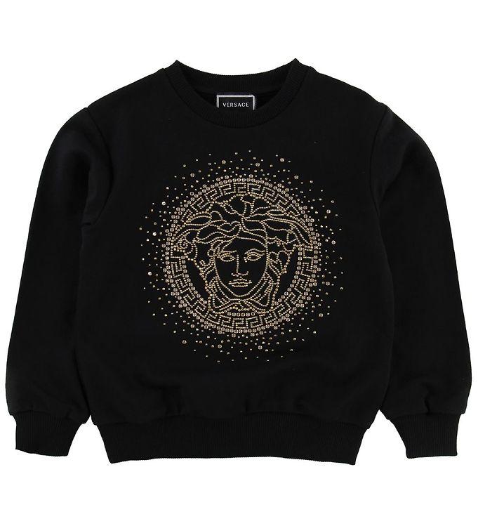 Image of Versace Sweatshirt - Sort m. Guld Medusa (MZ263)