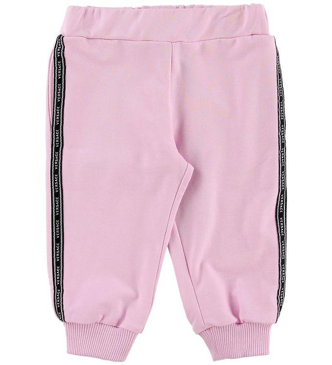 Image of Versace Sweatpants - Lyserød m. Logostribe (MZ264)