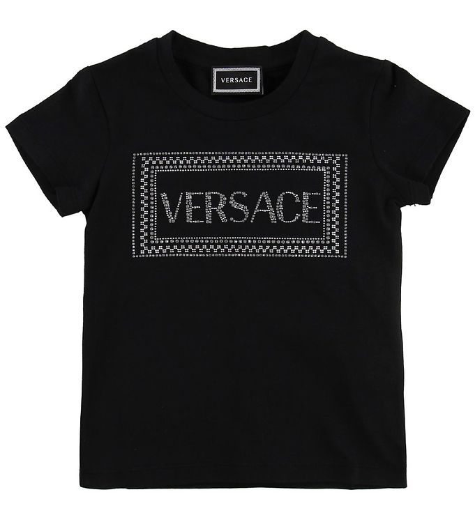 Image of Versace T-shirt - Sort m. Similisten (MZ269)
