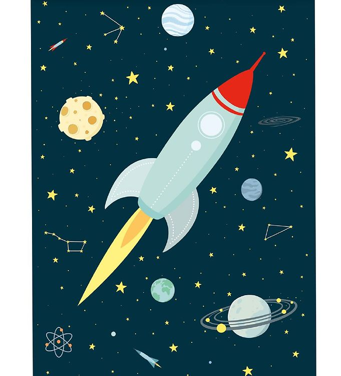 Image of   A Little Lovely Company Plakat - 50x70 cm - Space
