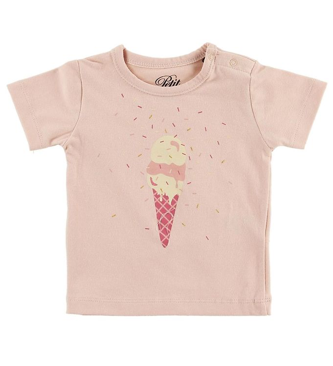 Image of Petit by Sofie Schnoor T-shirt - Penelope - Rosa m. Is (MZ483)