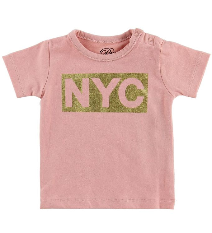 Image of Petit by Sofie Schnoor T-shirt - NYC - Rosa m. NYC (MZ495)