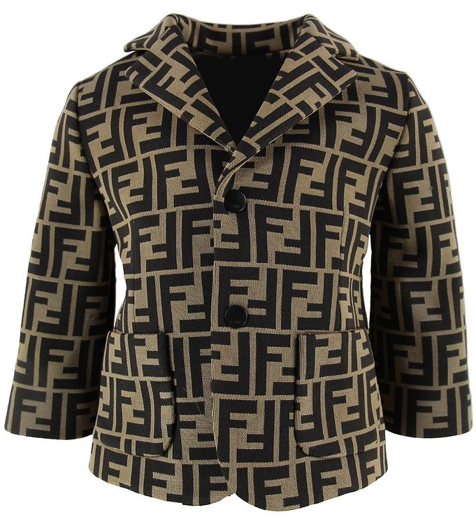 Image of Fendi Blazer - Brun m. Allover Logo (MZ944)