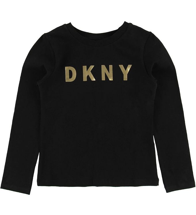 Image of DKNY Bluse - Sort m. Guld Logo (NA189)