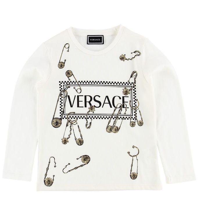 Image of Versace Bluse - Creme m. Sikkerhedsnåle (NA619)