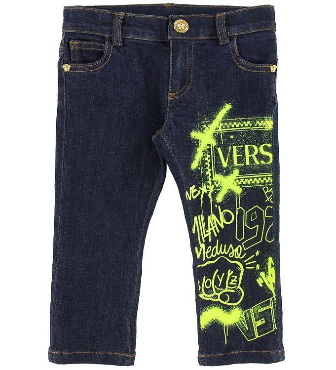 Image of Versace Jeans - Navy m. Print/Neongul (NA625)
