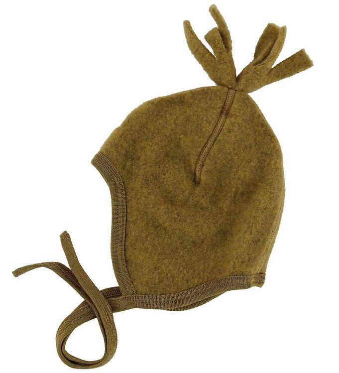 Image of Engel Baby Hat - Wool - Saffron Melange w. Pom-Pom (NA637)