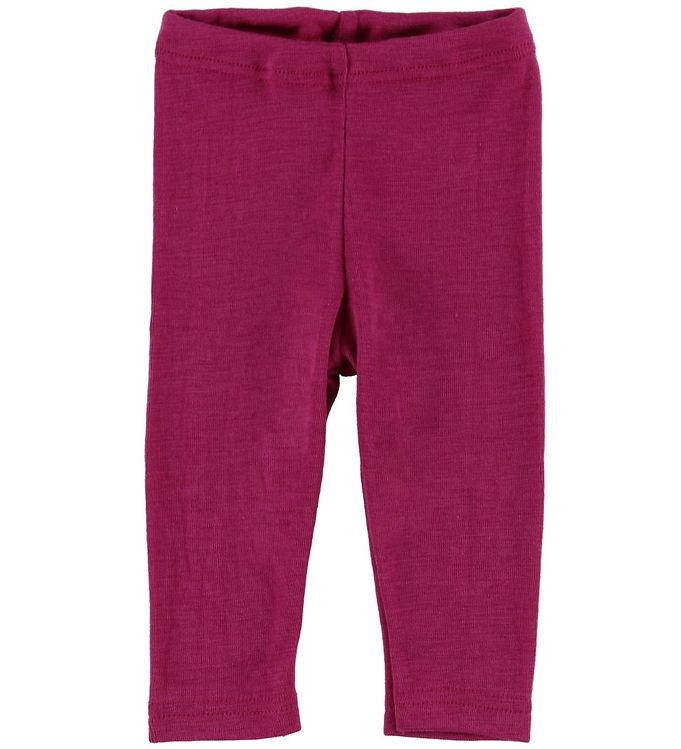 Image of Engel Leggings - Uld/Silke - Raspberry (NA642)