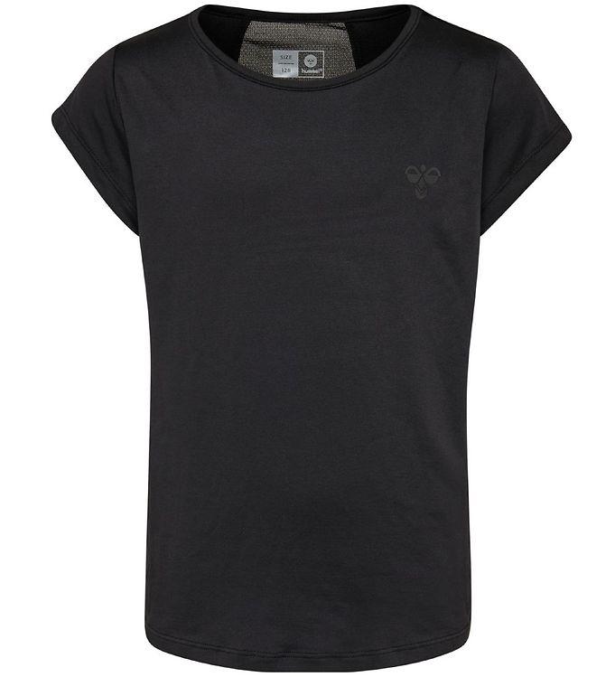 Hummel T-shirt - HMLRegina - Sort - 09 - Hummel,Hummel AW19,Hummel T-shirt,Pigetøj - Hummel