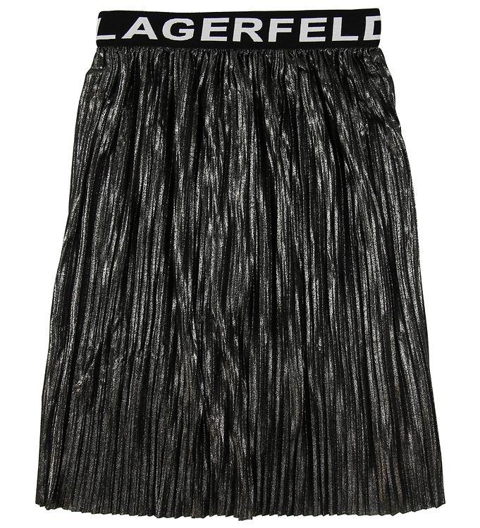 Image of Karl Lagerfeld Nederdel - Plisseret - Sort/Sølv (NB427)