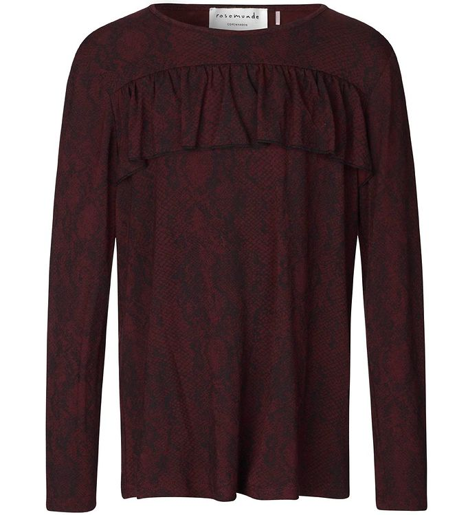 Image of Rosemunde Bluse - Soft Wine Python (NB464)