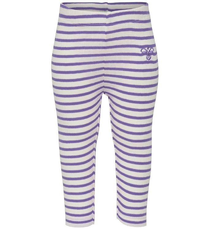 Hummel Leggings Balto Lillastribet - køb billigt Børnetøj