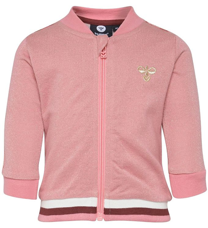 Image of Hummel Cardigan - Flamingo - Rosa m. Glimmer (NB504)