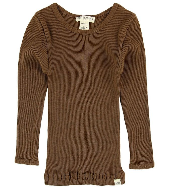Image of Minimalisma Bluse - Atlantic - Uld - Cinnamon (NB680)
