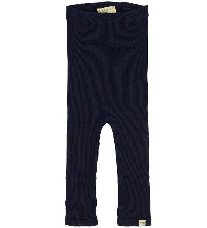 Image of Minimalisma Leggings - Bieber - Silke/Bomuld - Dark Blue (NB682)
