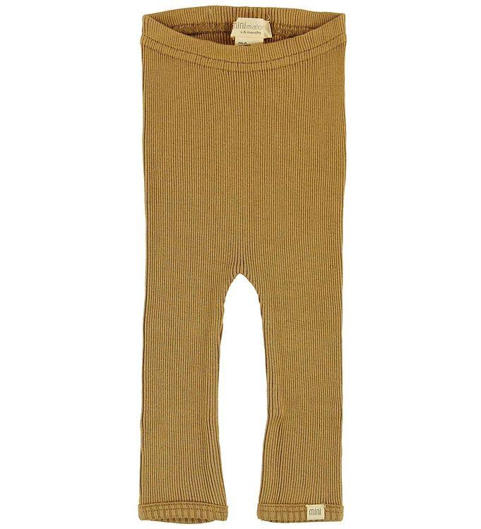 Image of Minimalisma Leggings - Bieber - Silke/Bomuld - Golden Leaf (NB704)