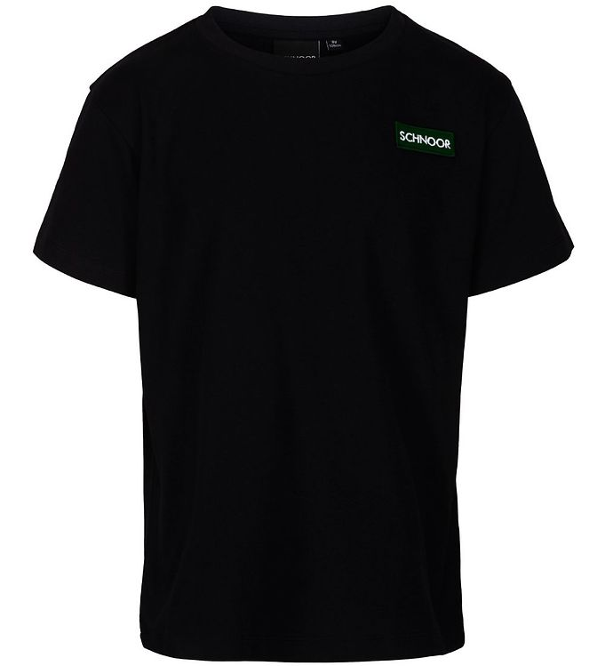 Image of Schnoor T-shirt - Oliver - Sort m. Logo (NC037)