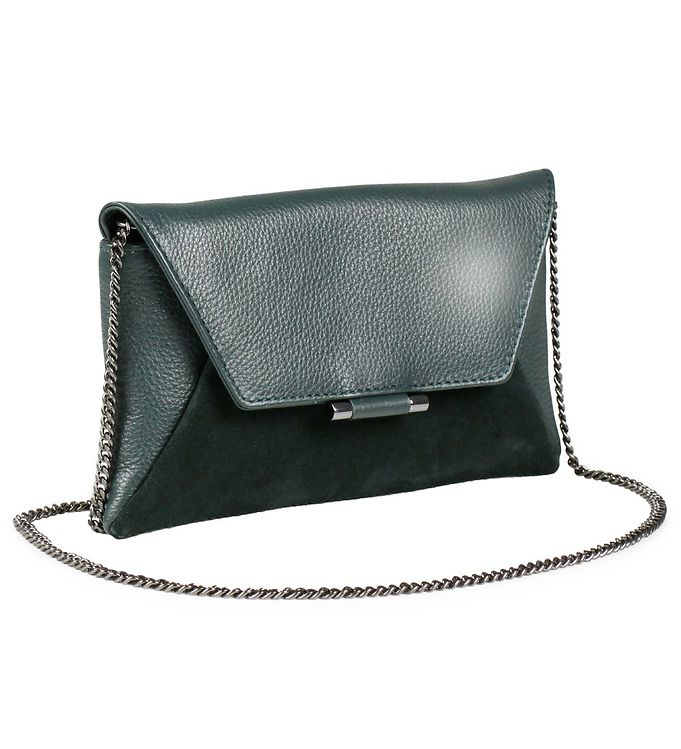 Image of Markberg Clutch - Dinah Suede Mix - Dark Green (NC921)