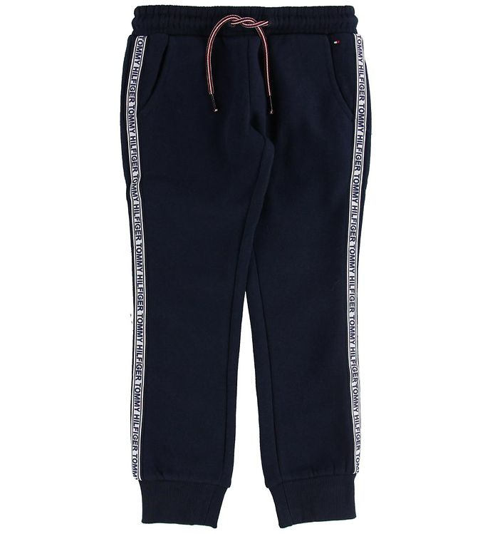 Image of Tommy Hilfiger Sweatpants - Navy m. Logostribe (ND450)