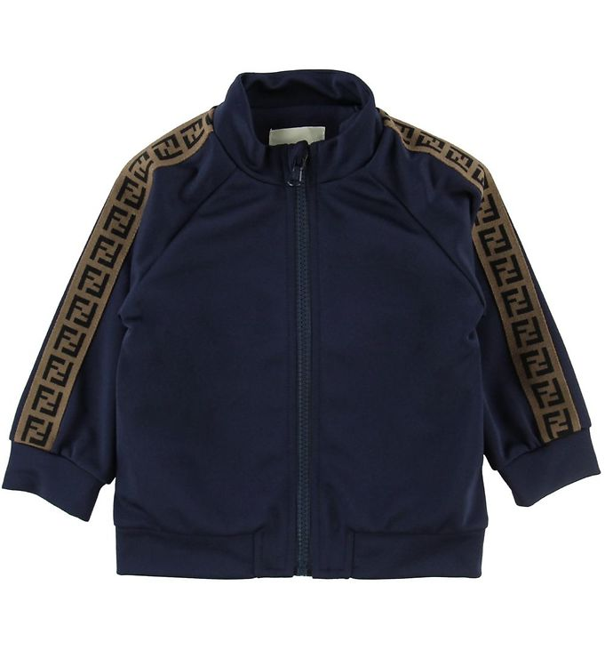 Image of Fendi Cardigan - Navy m. Stribe (ND641)