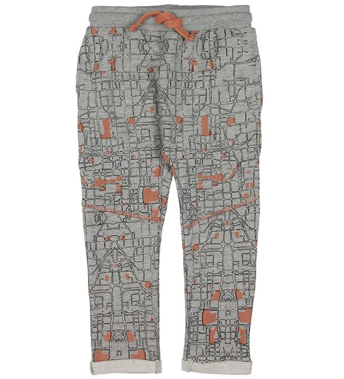 Image of Small Rags Sweatpants - Grå m. Mønster (ND752)