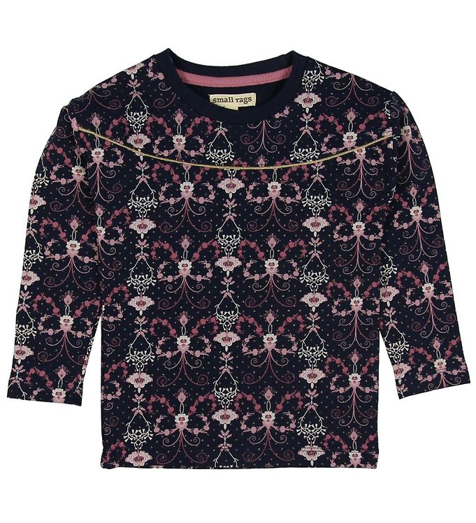 Image of Small Rags Bluse - Navy m. Blomster (ND766)