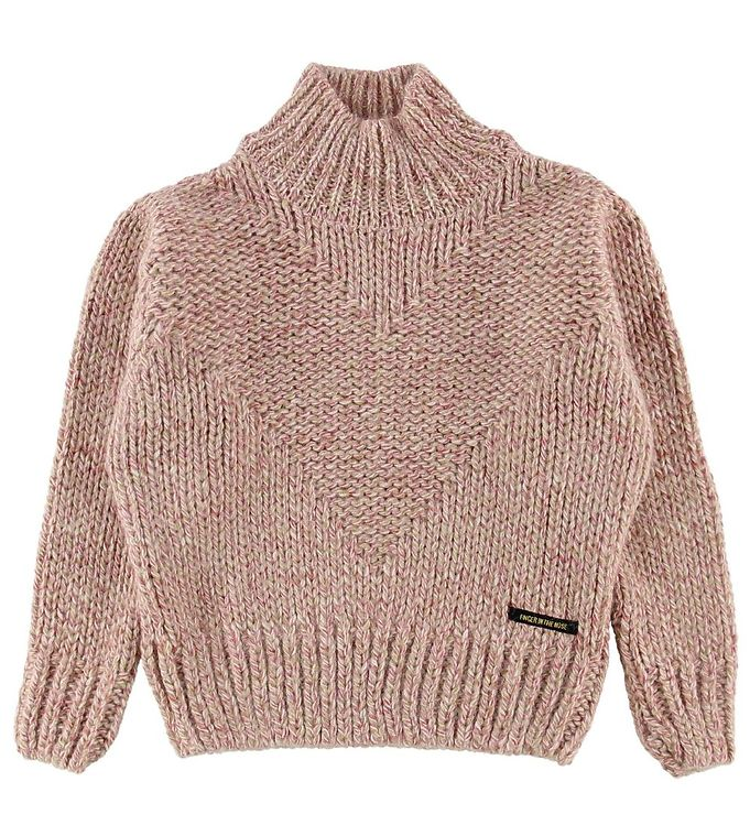 Image of Finger In The Nose Bluse - Akryl/Uld - Vanity - Heather Pink (NE026)