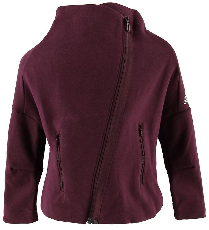 Image of adidas Performance Cardigan - YG ID HTR - Bordeaux