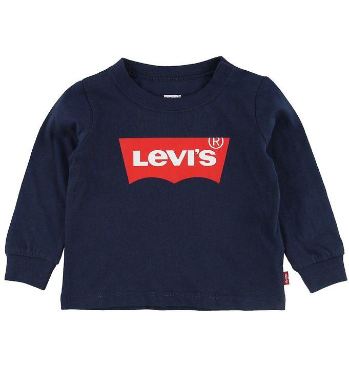 Image of Levis Bluse - Navy m. Logo (NE679)