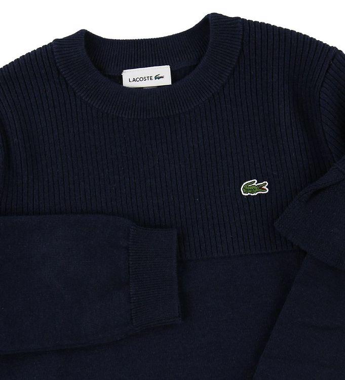 diversifiziert in der Verpackung neu billig wo zu kaufen Lacoste Bluse - Uld/Bomuld - Navy